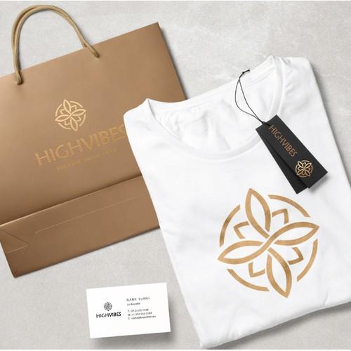 Ornamental design with the title 'Symbolic and spiritual logo'