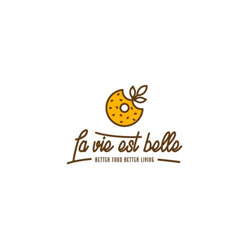 Bagel logo with the title 'La vie est belle'