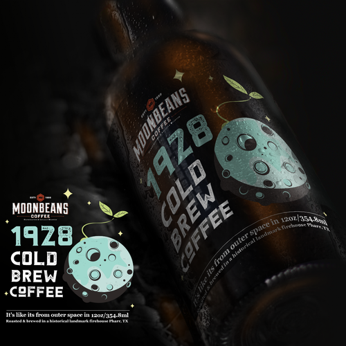 Coffee label with the title 'Design suggestion for Cold Brew Coffee'