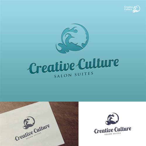Gestalt logo with the title 'Creative Logo for Creative Culture Salon Suites'