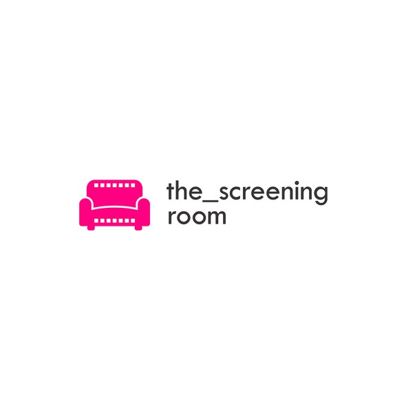 Cinema logo with the title 'the screening room'