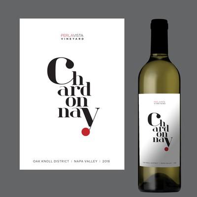 Label for Chardonnay wine