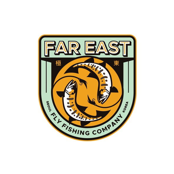 Salmon design with the title 'Far East Fly Fishing Company'