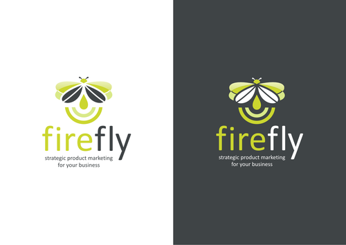 """Firefly design with the title 'Create a """"firefly"""" logo for a marketing business in Silicon Valley.'"""