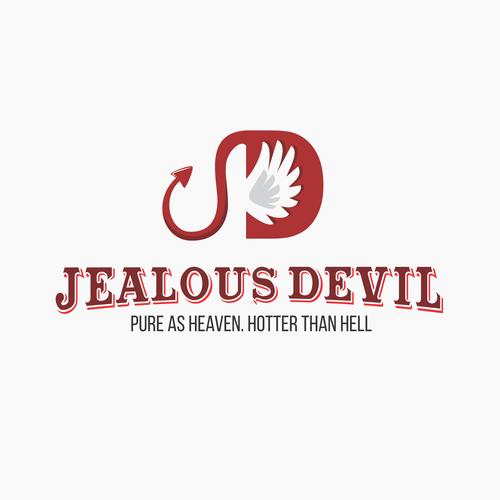 D logo with the title 'Jealous Devil Logo Concept'