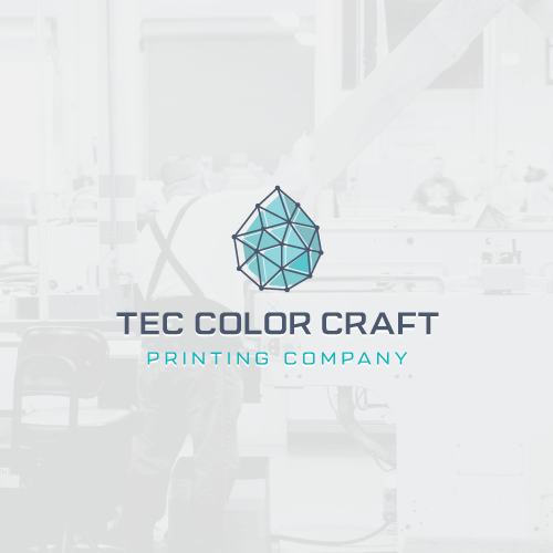 Paint design with the title 'New logo for old company'