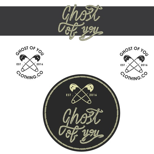 Ghost design with the title 'logo for a clothing company, Ghost of you.'