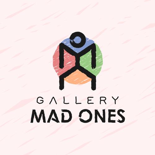 Art logo with the title 'Eccentric artist concept'