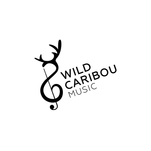 Antler logo with the title 'Wild Caribou Music Logo'