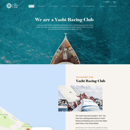 Rich design with the title 'Yacht Racing Club'