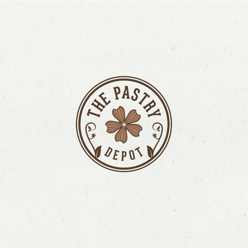 """Pastry logo with the title 'Simple iconic logo for """"The Pastry Depot'"""