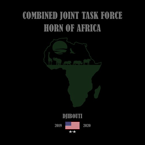 Africa t-shirt with the title 'Concept Tees Design for CJTF-HOA'