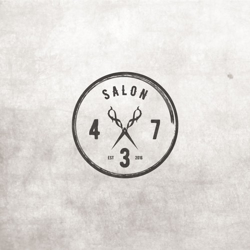 Hair logo with the title 'Salon 437'
