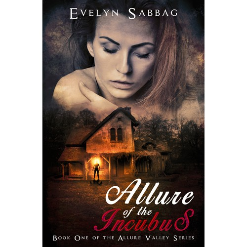 Paranormal romance book cover with the title 'Allure of the Incubus'