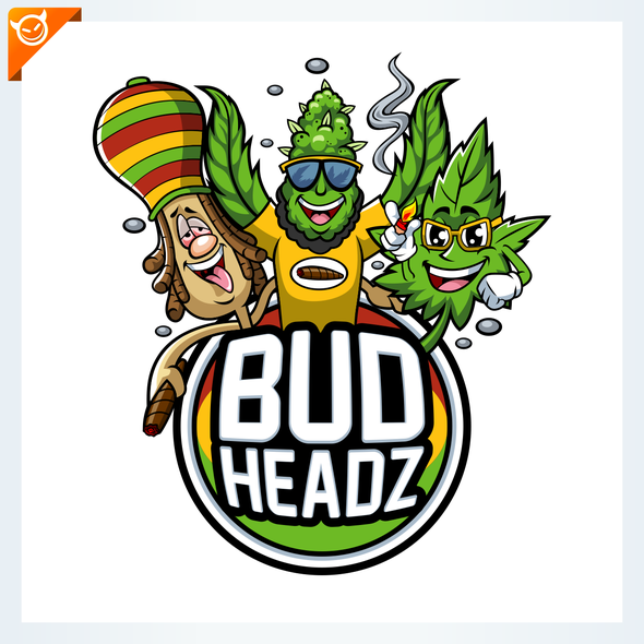 Rasta design with the title 'BUD HEADZ logo design'