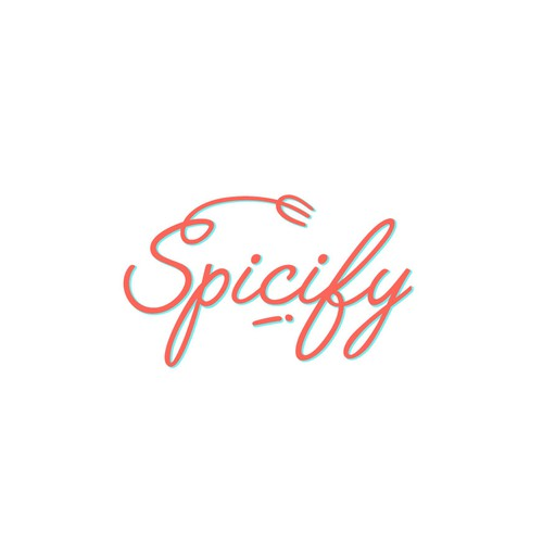Cyan design with the title 'Spicify Logo Concept'