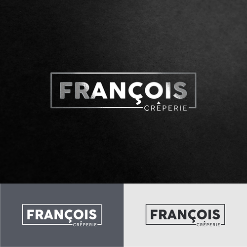 Crepe design with the title 'Francois Creperie'