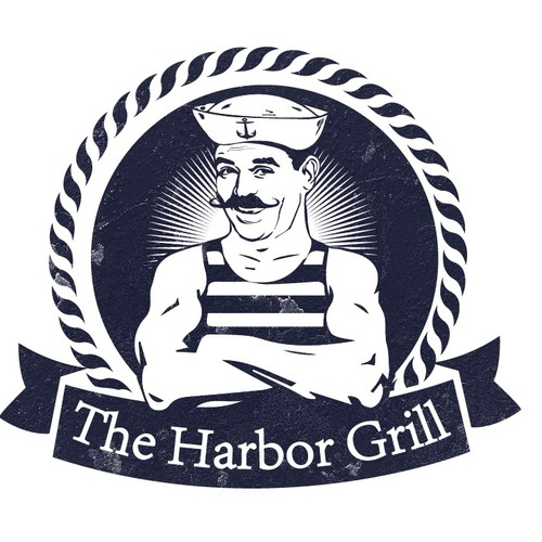 Harbor logo with the title 'The Harbor Grill'