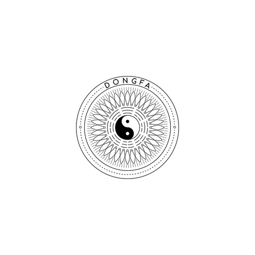 Intricate logo with the title 'Intricate Logo for a Qigong Class'
