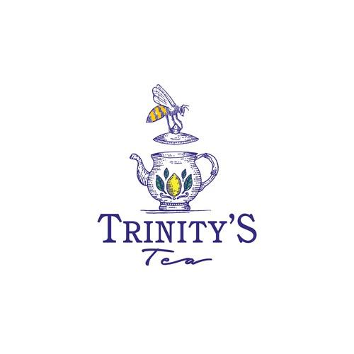 Lemon logo with the title 'Trinity's Tea'
