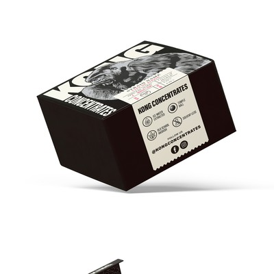 Cannabis Box Packaging Design for Kong Concentrates