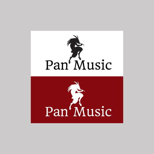 Pan logo with the title 'Logo concept for digital music company'