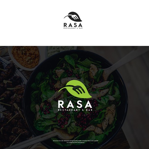 Healthy brand with the title 'Logo Design for Eco Restaurant & Bar'