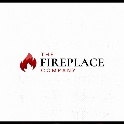 Fire shield logo with the title 'Modern logo for an old fireplace store'