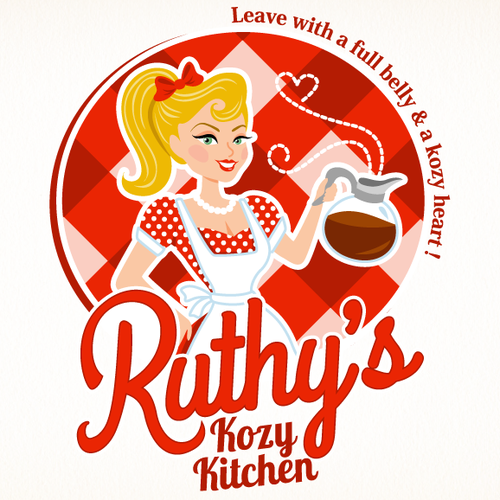 Pin-up girl logo with the title 'Southern Vintage Logo'