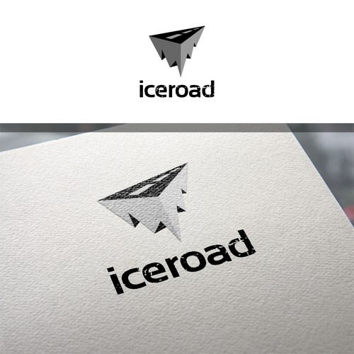 Ice design with the title 'CLEVER LOGO FOR STARTUP COMPANY'