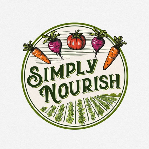 Mature logo with the title 'Simply Nourish'