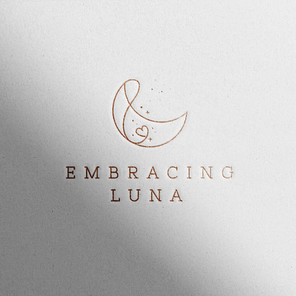 Luna logo with the title 'Protective Maternity Clothing brand logo for eCommerce'