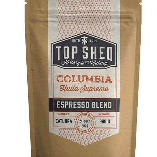 Blend design with the title 'Labels for roast coffee'