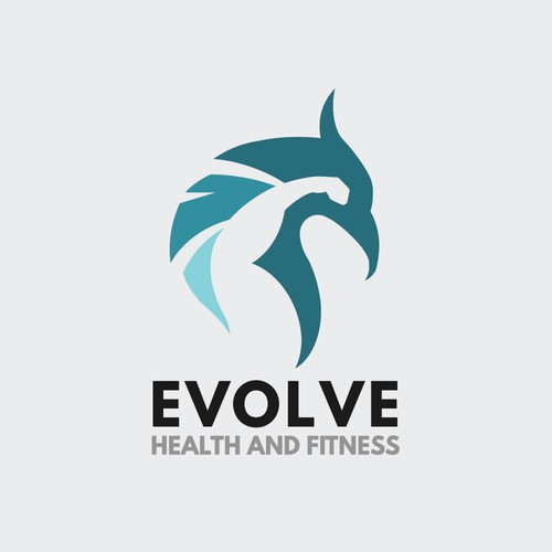 Evolve logo with the title 'Logo concept for Evolve Health and Fitness '
