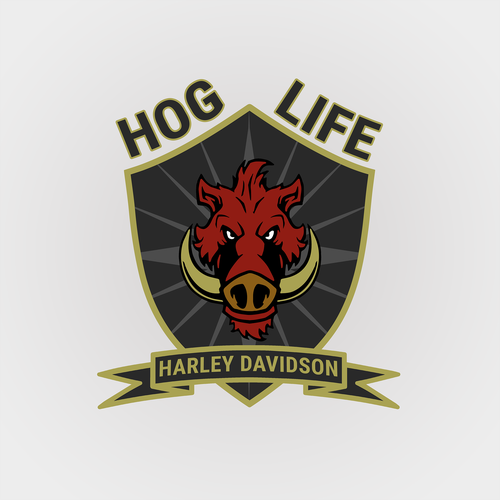 Hog design with the title 'HOG LIFE second edit'