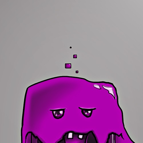 Gel design with the title 'The Purple Screen of Death Monster'