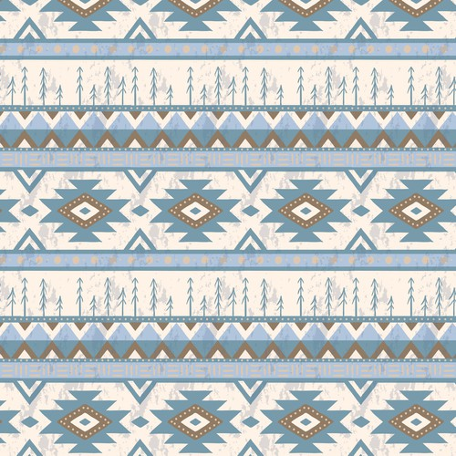 Seamless artwork with the title ' Aztec Pattern'