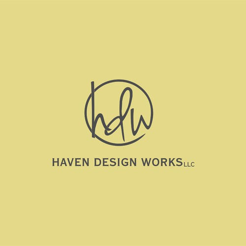 Yellow design with the title 'Simple logo design'