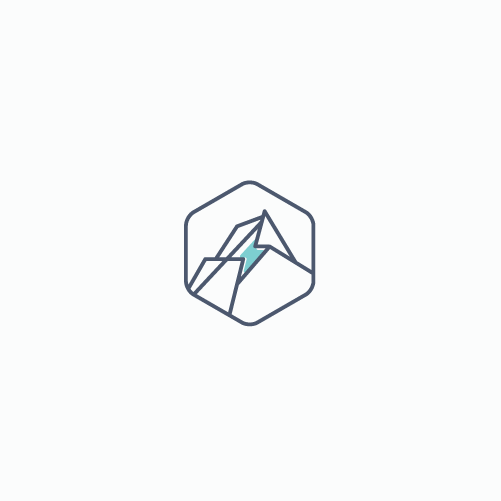 Mining design with the title 'Energy mining logo'