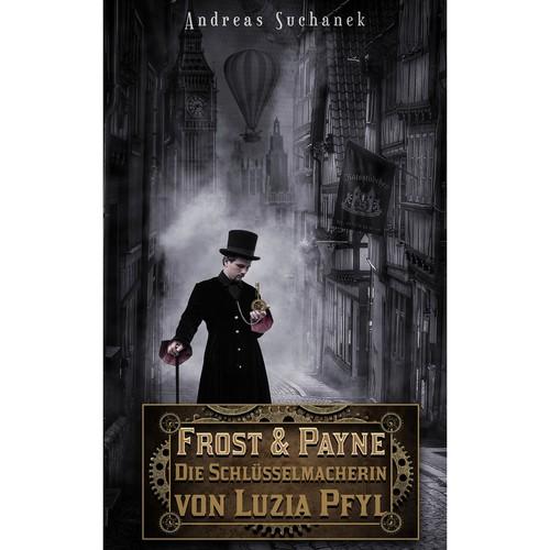 Steam design with the title 'Book cover design.'