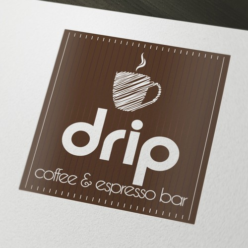 Scribble design with the title 'DRIP coffee'