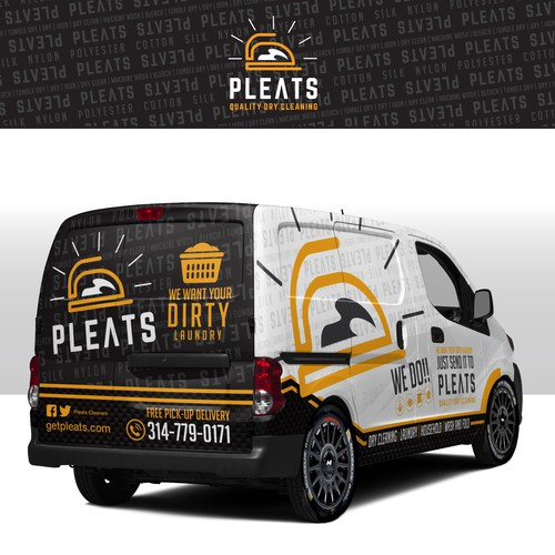 Laundry design with the title 'Laundry Van Wrap'