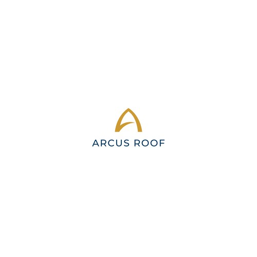 Roofing logo with the title 'Logo Design for Arcus Roof'
