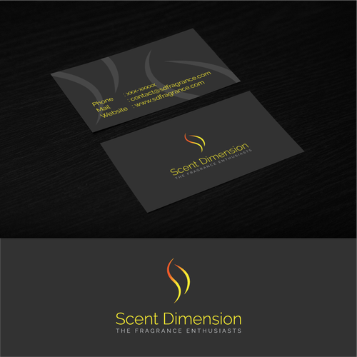 Fragrance design with the title 'Modern & Minimalist logo for Scent Dimension'