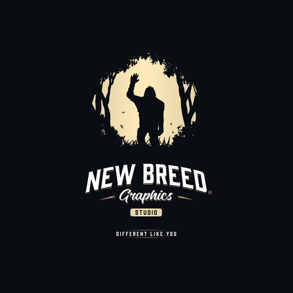 Bigfoot logo with the title 'New Breed Graphics Studio Logo'