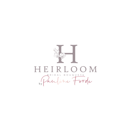 Wedding planner logo with the title 'Heirloom Bridal Bouquets'