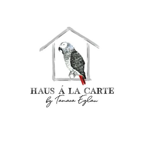 Watercolor brand with the title 'Watercolor logo for Haus à la Carte'