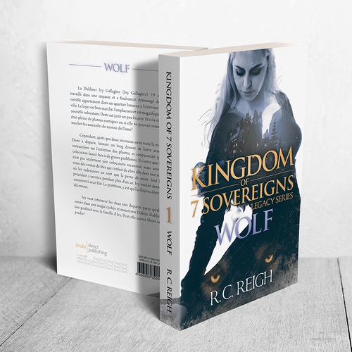 """Princess design with the title 'Cover for """"Kingdom of 7 Sovereigns. Legacy Series. Wolf"""" by R. C. Reigh'"""