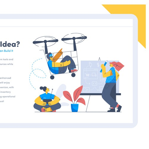 Website illustration with the title 'Streamflow Project'