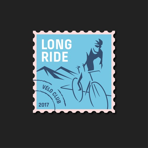 Cycling design with the title 'Vintage cyclist Logo'